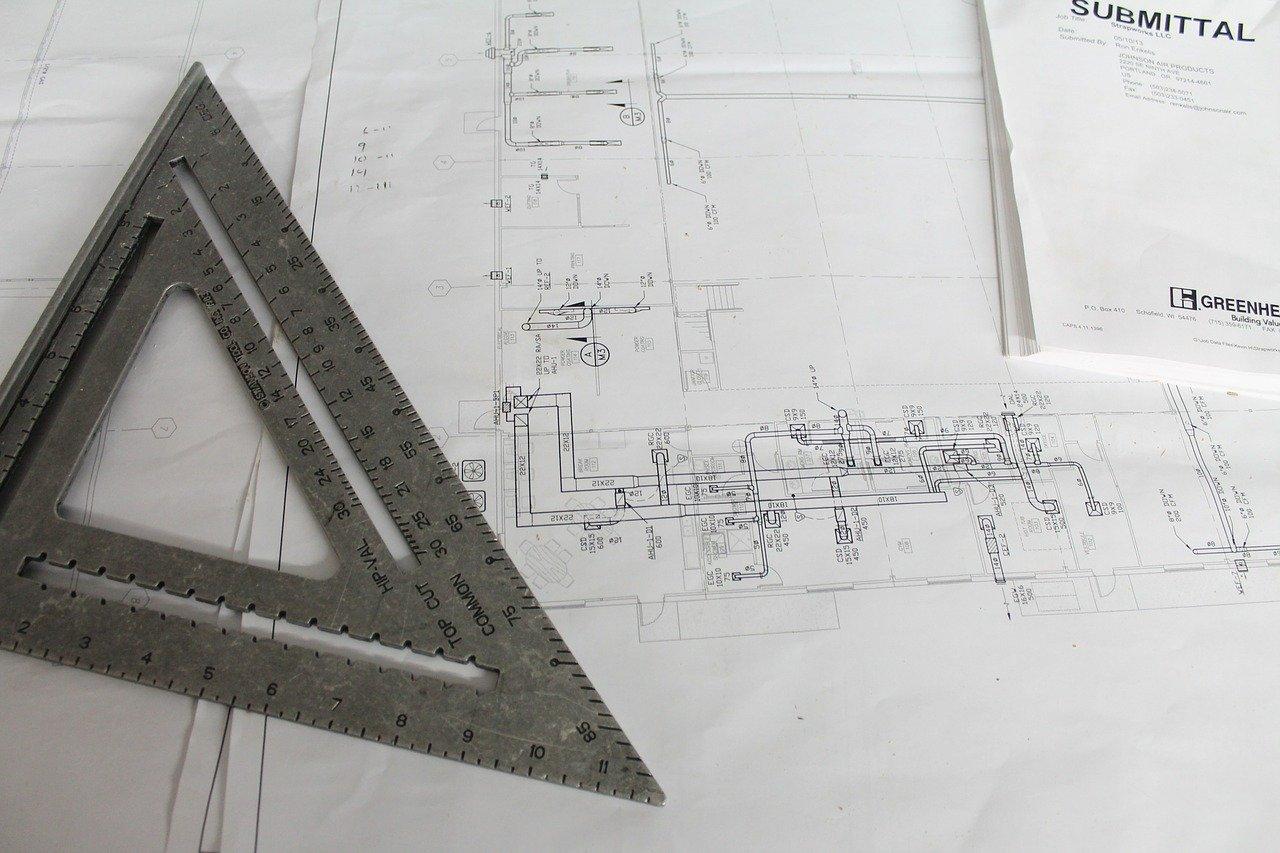 construction, plans, square